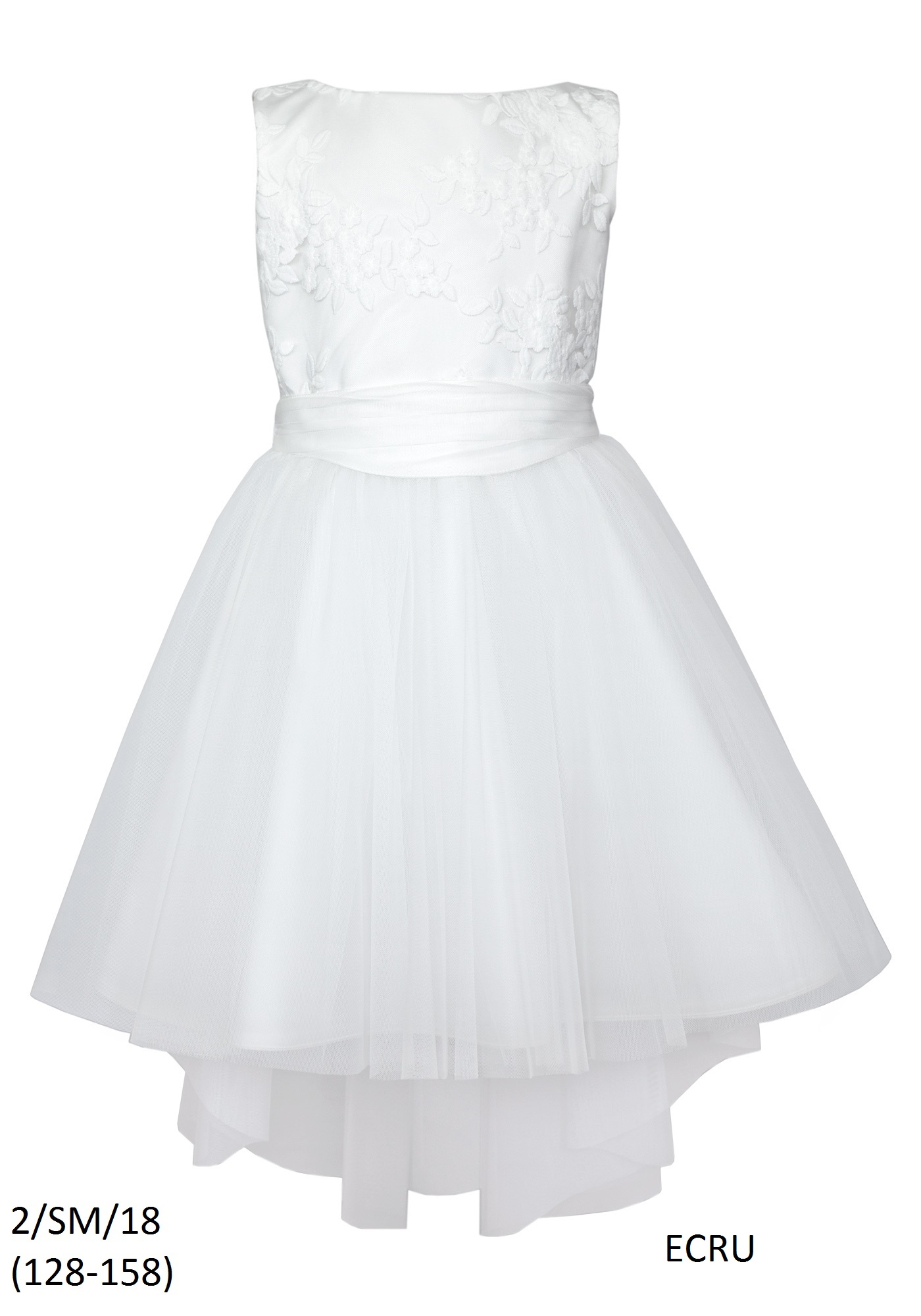 0e1d3394 Tiulowa Elegancka Sukienka do Komunii rozm.146 - 7165074462 ...