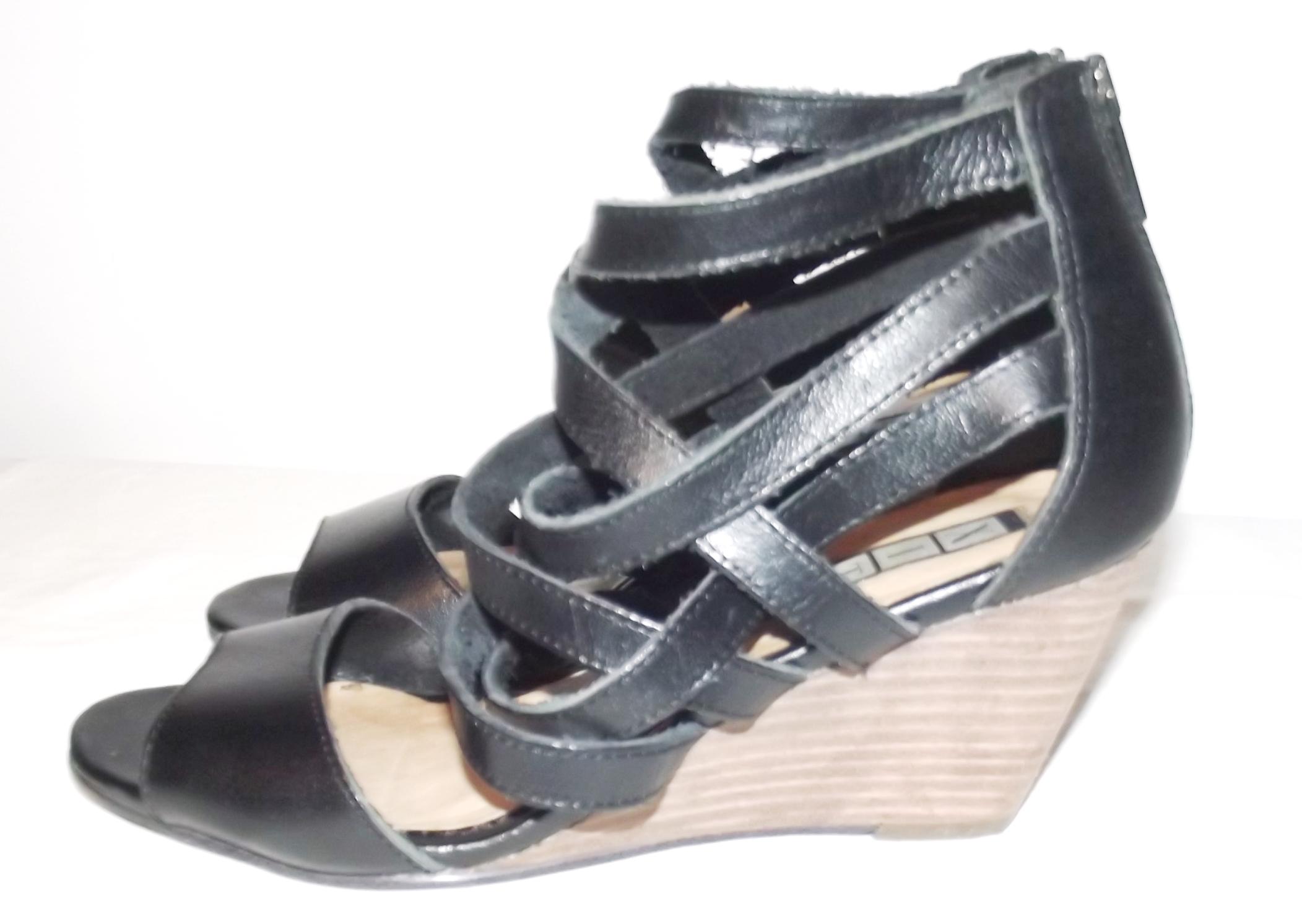 dee0ee7249e69 skórzane sandały rzymianki na koturnie zip 36 - 7030787091 ...