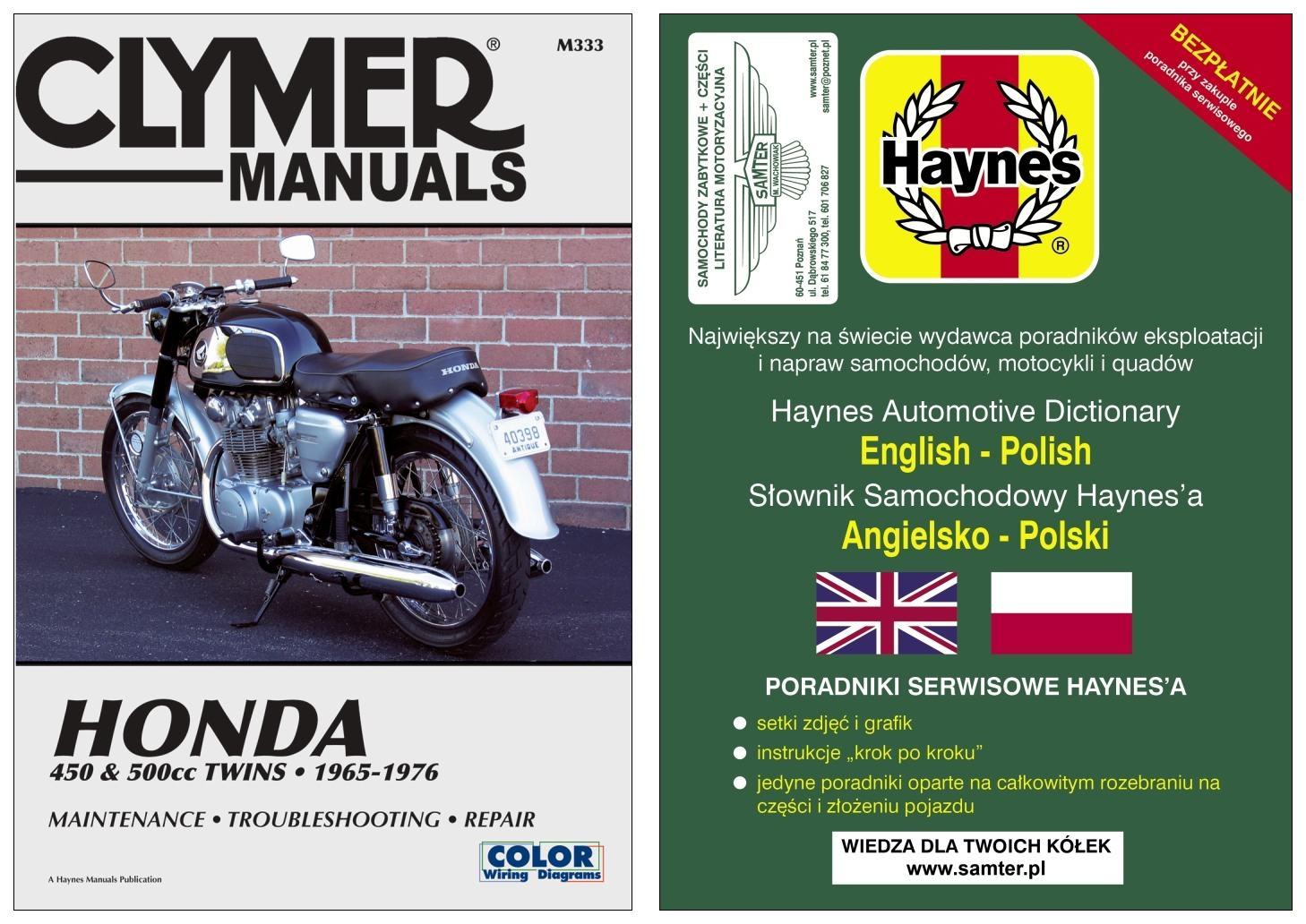 Honda Cb 450 Cl450 Cb500t 1965 1976 Instr Napraw 7263786931 Wiring Diagram