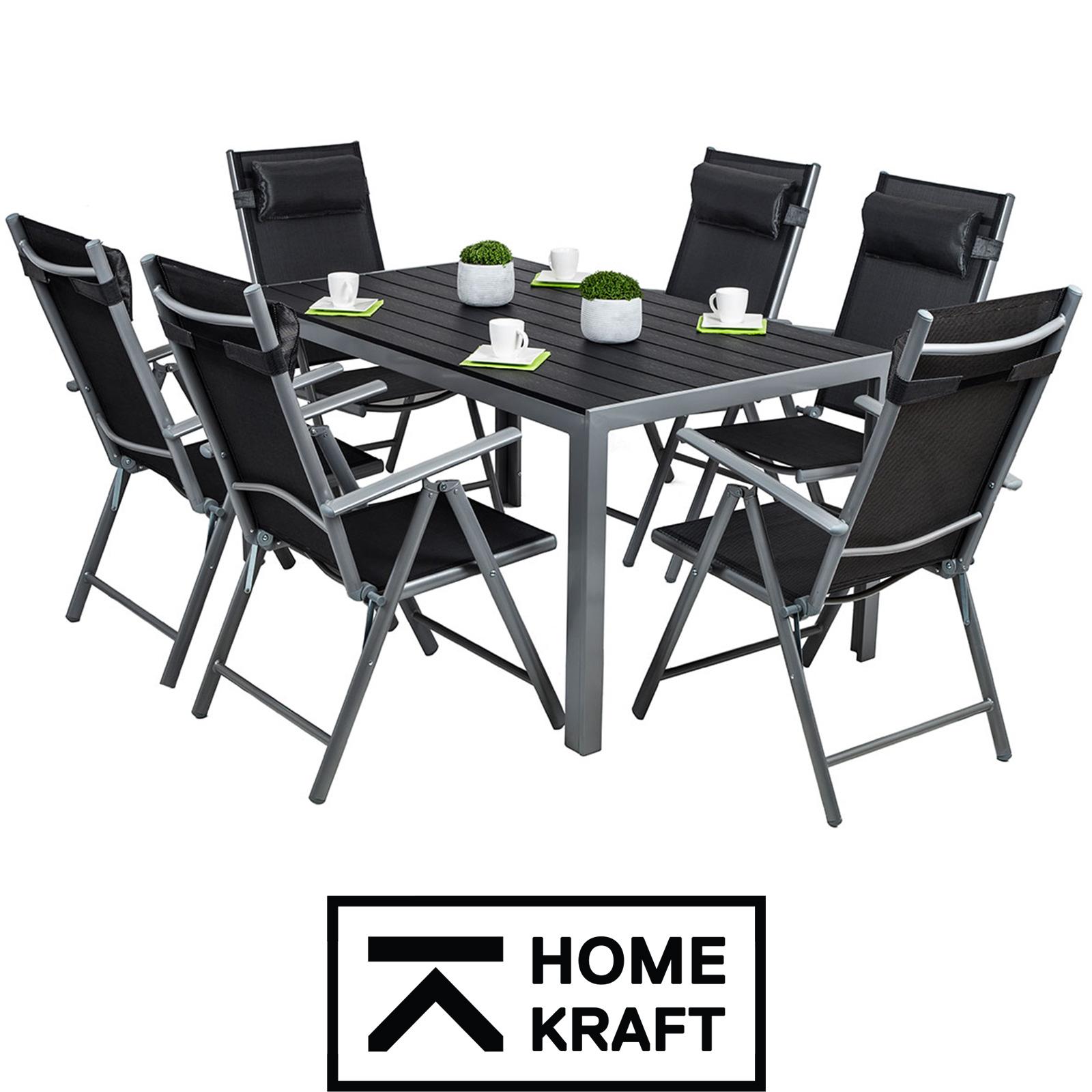 Meble ogrodowe aluminiowe CORDOBA stół i 6 krzeseł