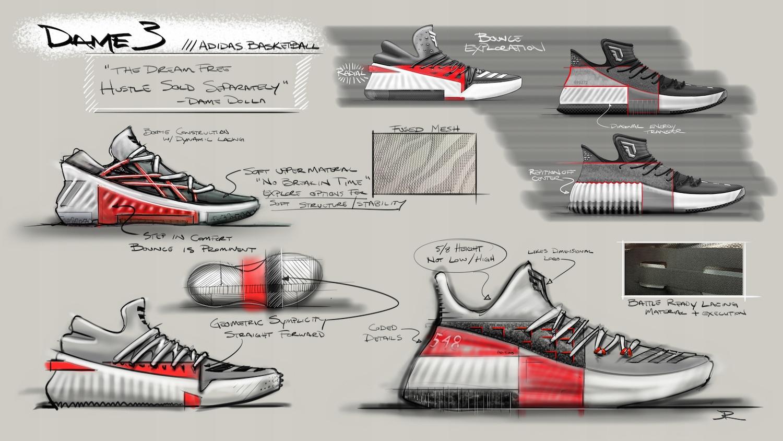 new products 1dd73 c676e Adidas Dame 3 Wasatch buty koszykarskie - 46 23 (7229798338)