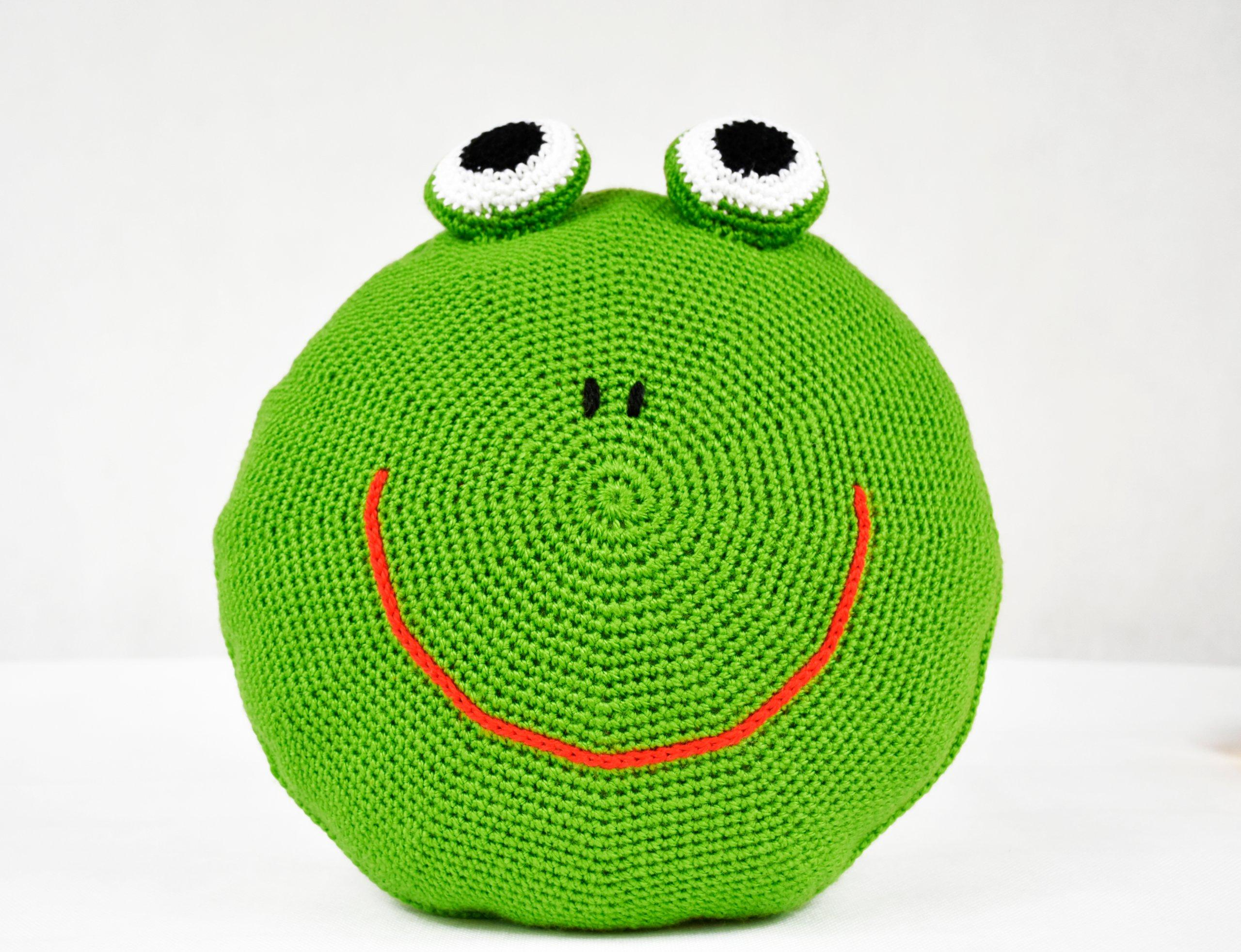 Poduszka Przytulanka Dekoracyjna żabka 7160353187