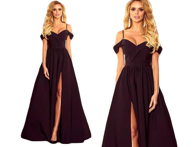8762c2ff2b Rozkloszowana długa Sukienka MAXI SUKNIA WESELE - 7044060909 ...