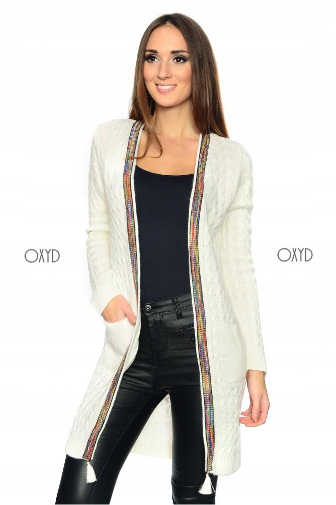 f6c8d90ca19627 Kardigan damski elegancki narzutka sweter płaszcz - 7719171049 ...