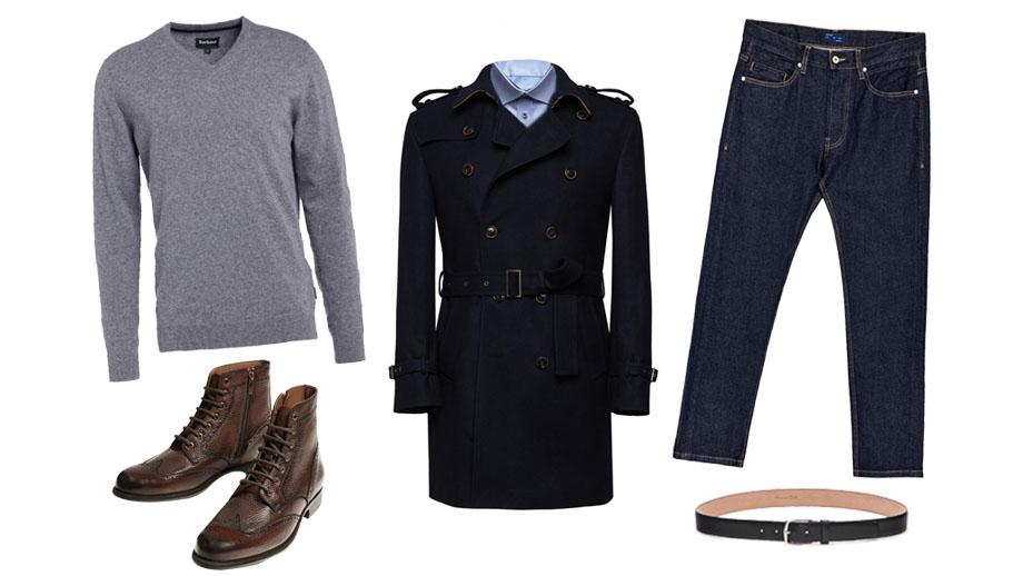 Zima w wełnianym trenczu – look dla stylowego mężczyzny