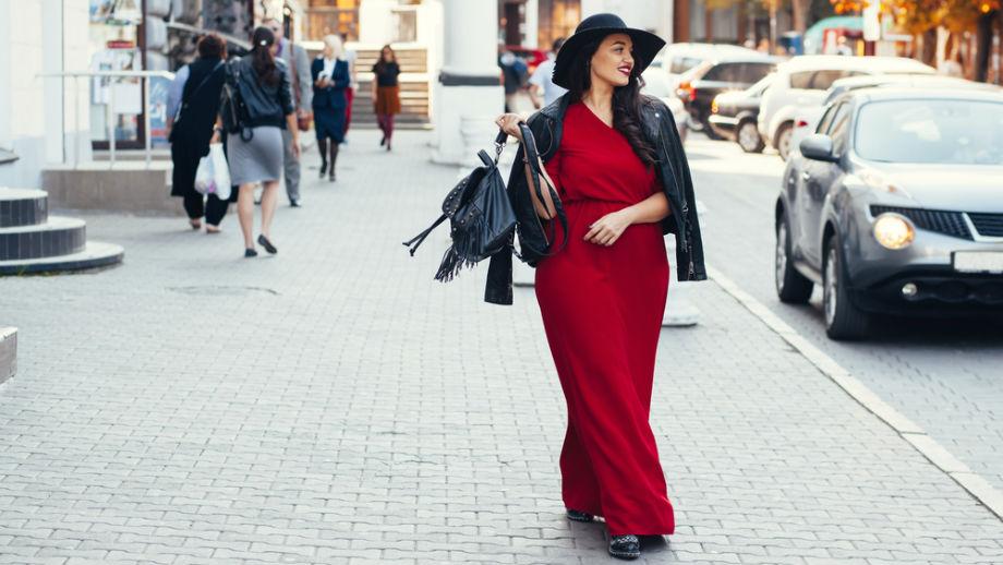 Jesień w sukience maxi