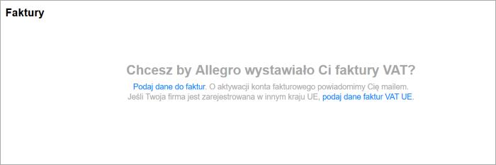 Czy Moge Otrzymac Faktury Vat Za Uslugi Allegro Pomoc Allegro