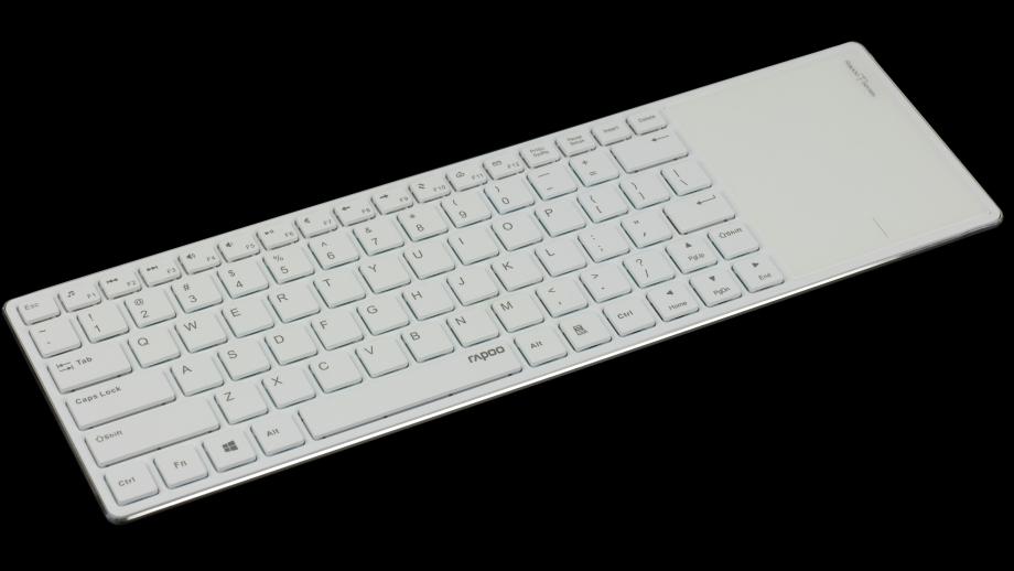Multimedialna klawiatura z panelem dotykowym i aluminiową