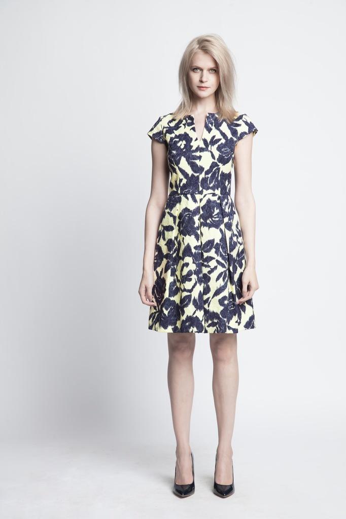 Sukienka ECHO MALWINA 2-16945-116158-130130 granatowy, żółty M