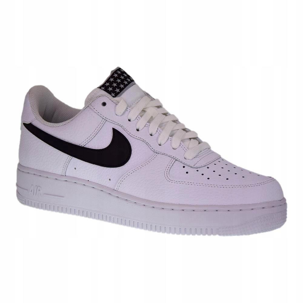 Nike air force 1'07 białe z czarnym znaczkiem