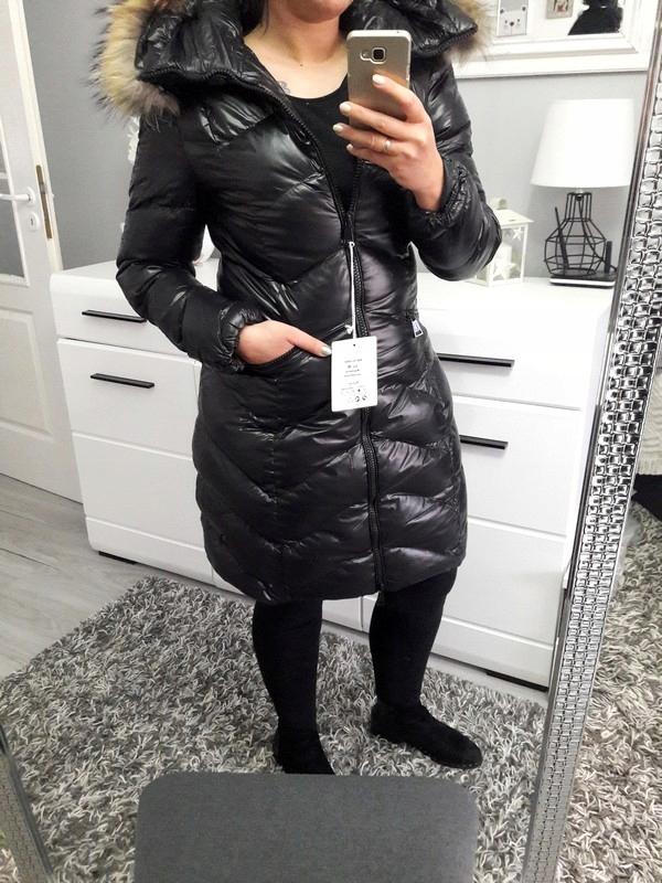 kurtka pikowana błyszcząca damska