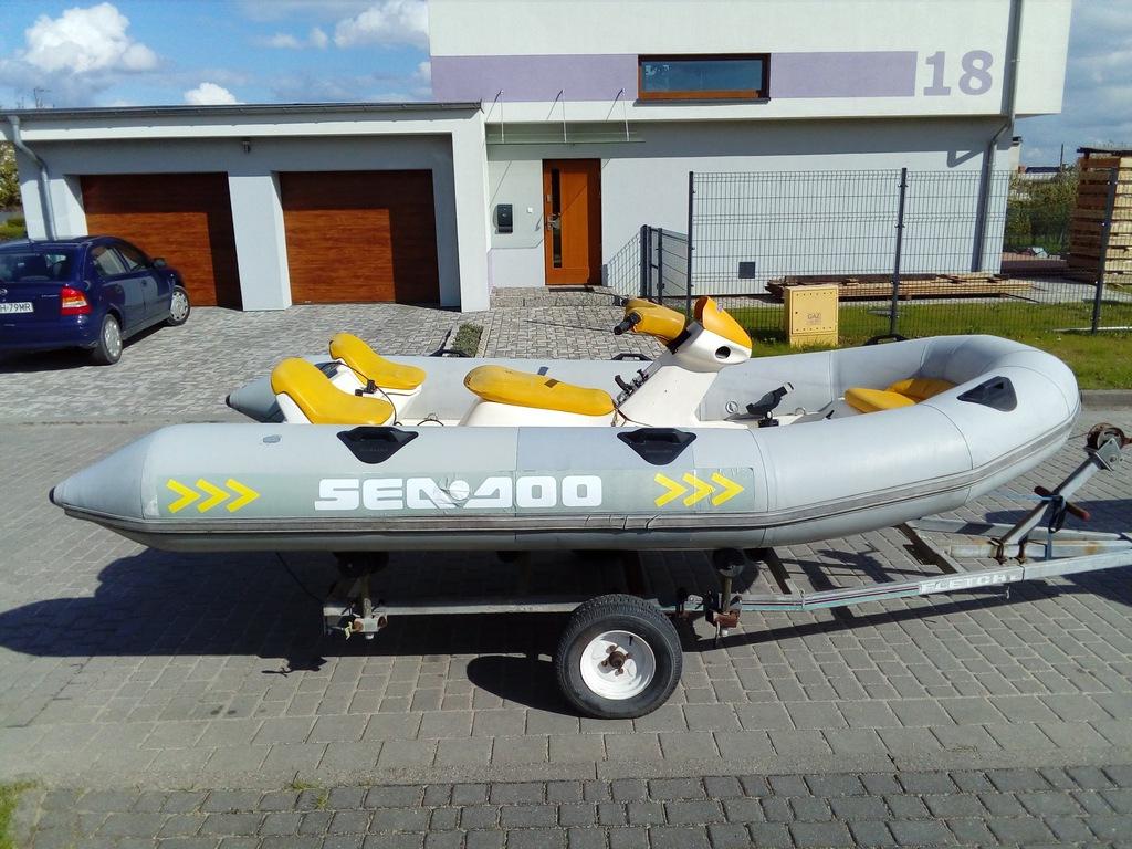 SEA DOO EXPLORER Rib skuter ponton motorówka 5-os.