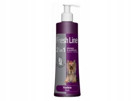 FRESH LINE szampon dla Yorków York z odżywką 2w1