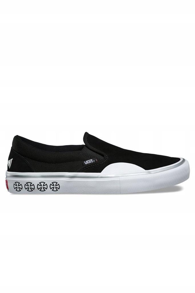 Vans x Independent Slip On Pro Shoes Black White | Flatspot