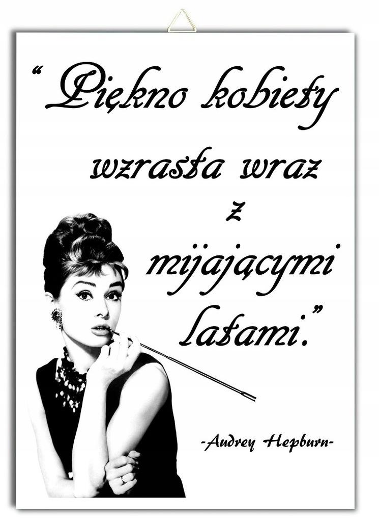 Plakat Audrey Hepburn Cytat Piękno Kobiety Wzrasta 7643360525 Oficjalne Archiwum Allegro