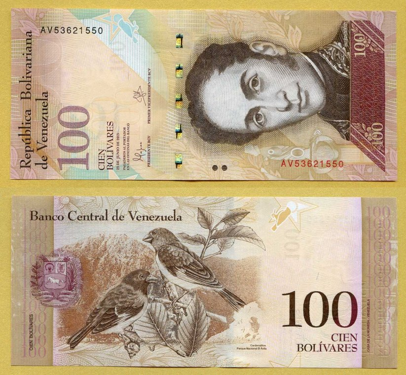 20 Venezuela Banknotes 10 X 100000 10 X 20000 BOLIVARES aUnc currency
