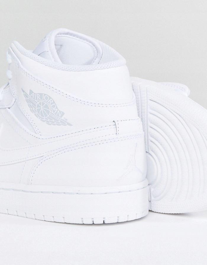 NIKE Białe skórzane wysokie buty sportowe (45,5