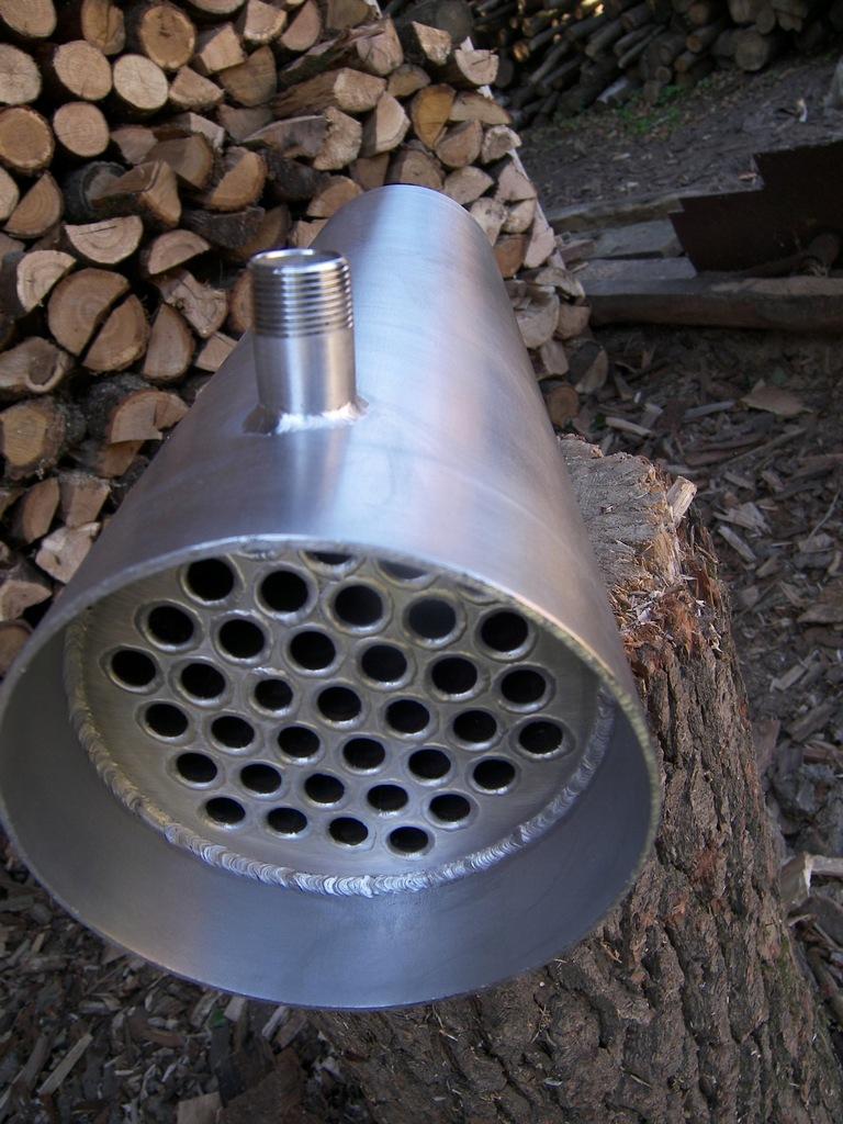 Wymiennik ciepła rurowy kominowy stal nierdzewna