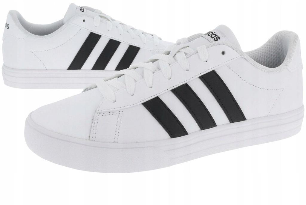 buty męskie adidas daily białe allero