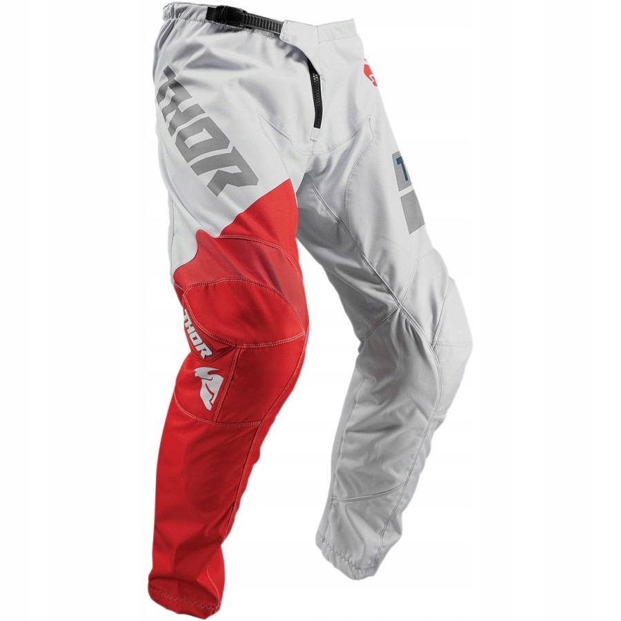 Spodnie cross THOR Sector Shear szaro czerwone 32