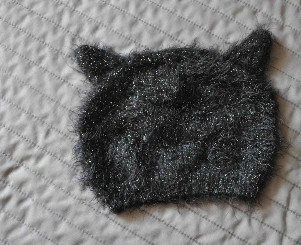 Ciepła kocia czapka z uszkami F&F 2-4 latka