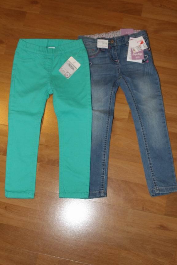 spodnie jeansy 104- 2 sztuki NOWE