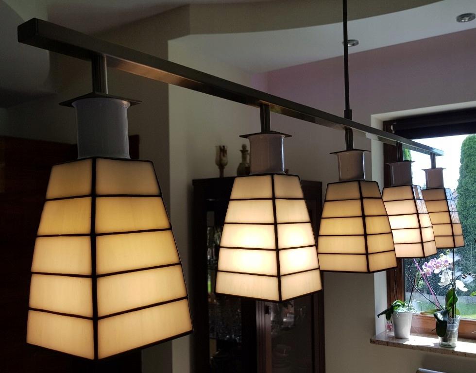lampa witrażowa wisząca Jadalnia żyrandol
