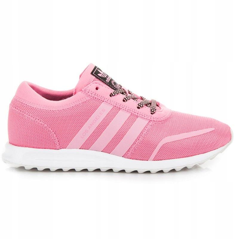 Różowe Tekstylne Buty Sportowe Adidas r.36,5