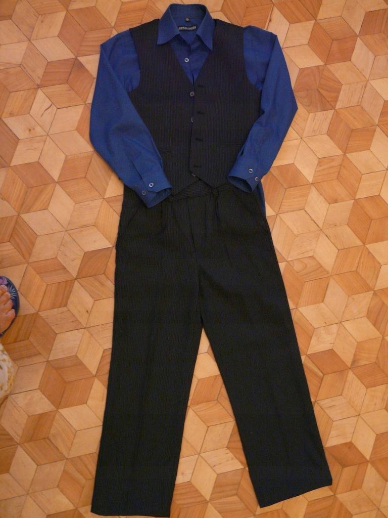 Cool Club spodnie + kamizelka + koszula 134-140