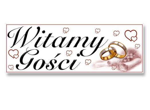 Plakat weselny na powitanie gości ślub 24x68cm NR1