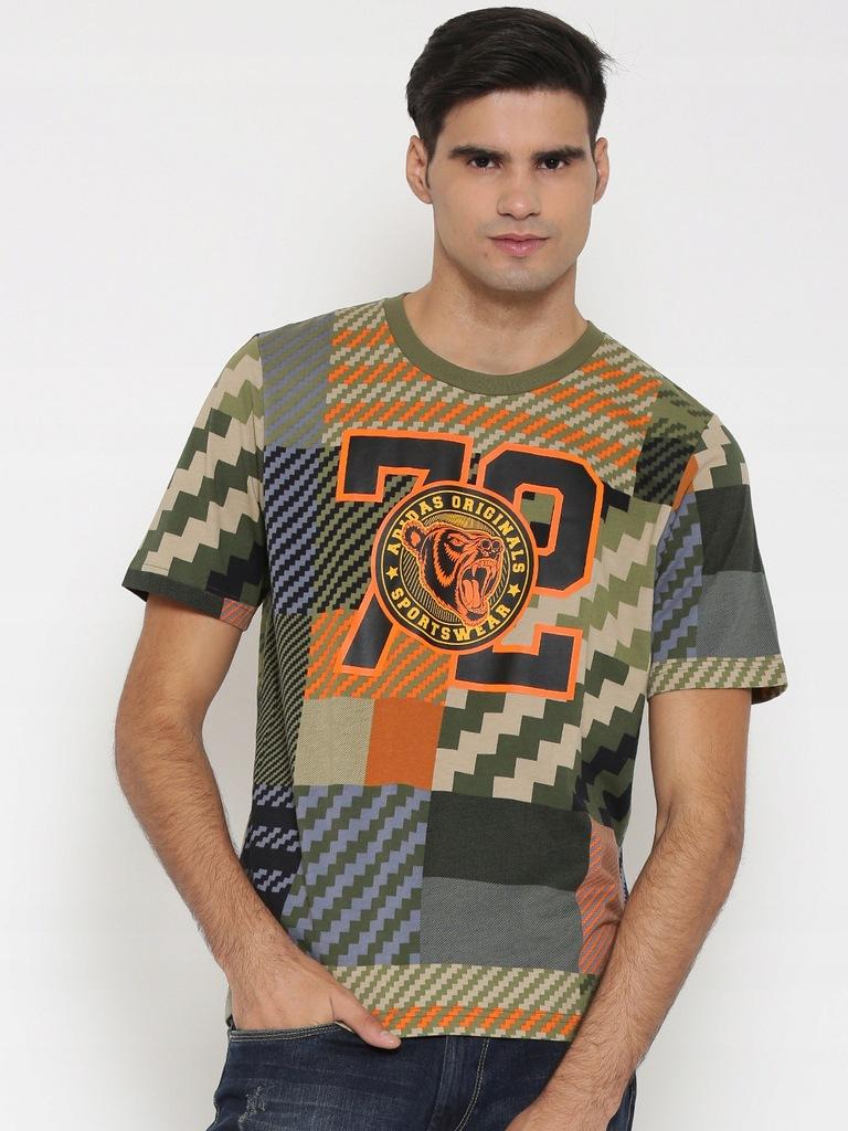 T SHIRT Adidas Originals Mad Plaid AY9290 rozm L