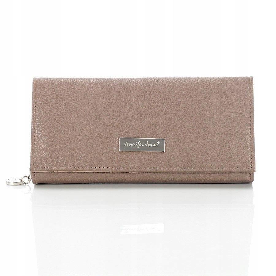 Brązowy duży portfel damski Jennifer Jones nude