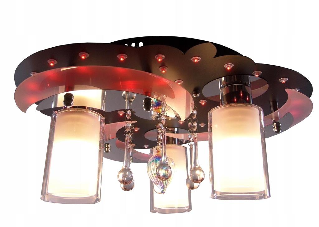 PLAFON KRYSZTAŁOWY LED ŻYRANDOL 46 cm FILM LAMPA!