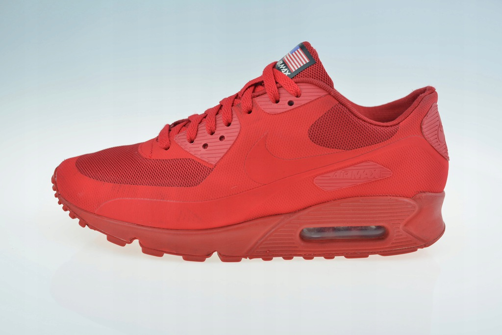 Nike Air Max 90 Hyperfuse: 'Independence Day' Red   Sneakers