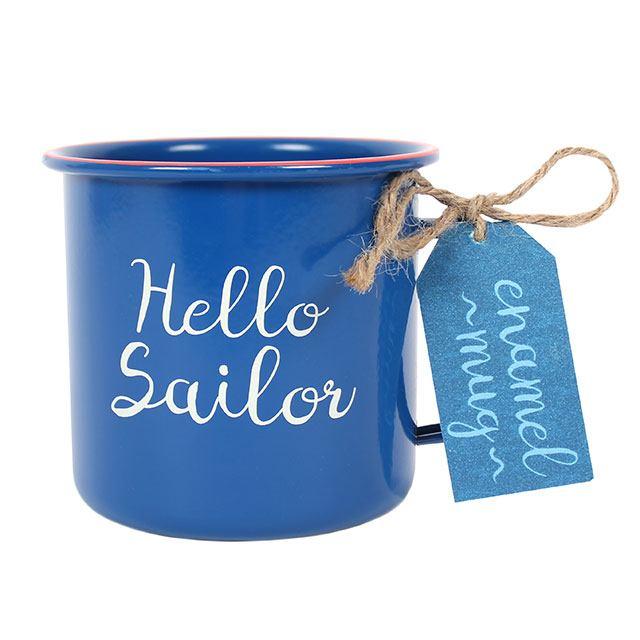 KUBEK EMALIOWANY - HELLO SAILOR dla marynarza
