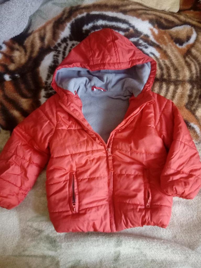 czerwona kurtka dziecieca zimowa chłopiec