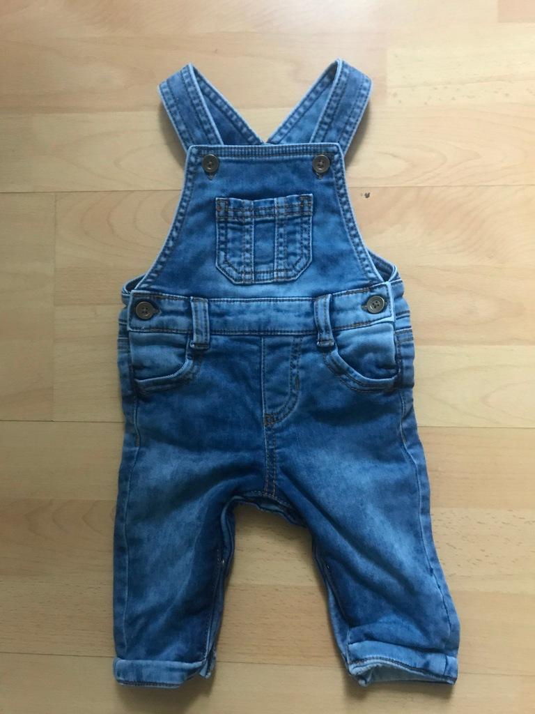 F&F baby ogrodniczki jeansowe 3m 62cm
