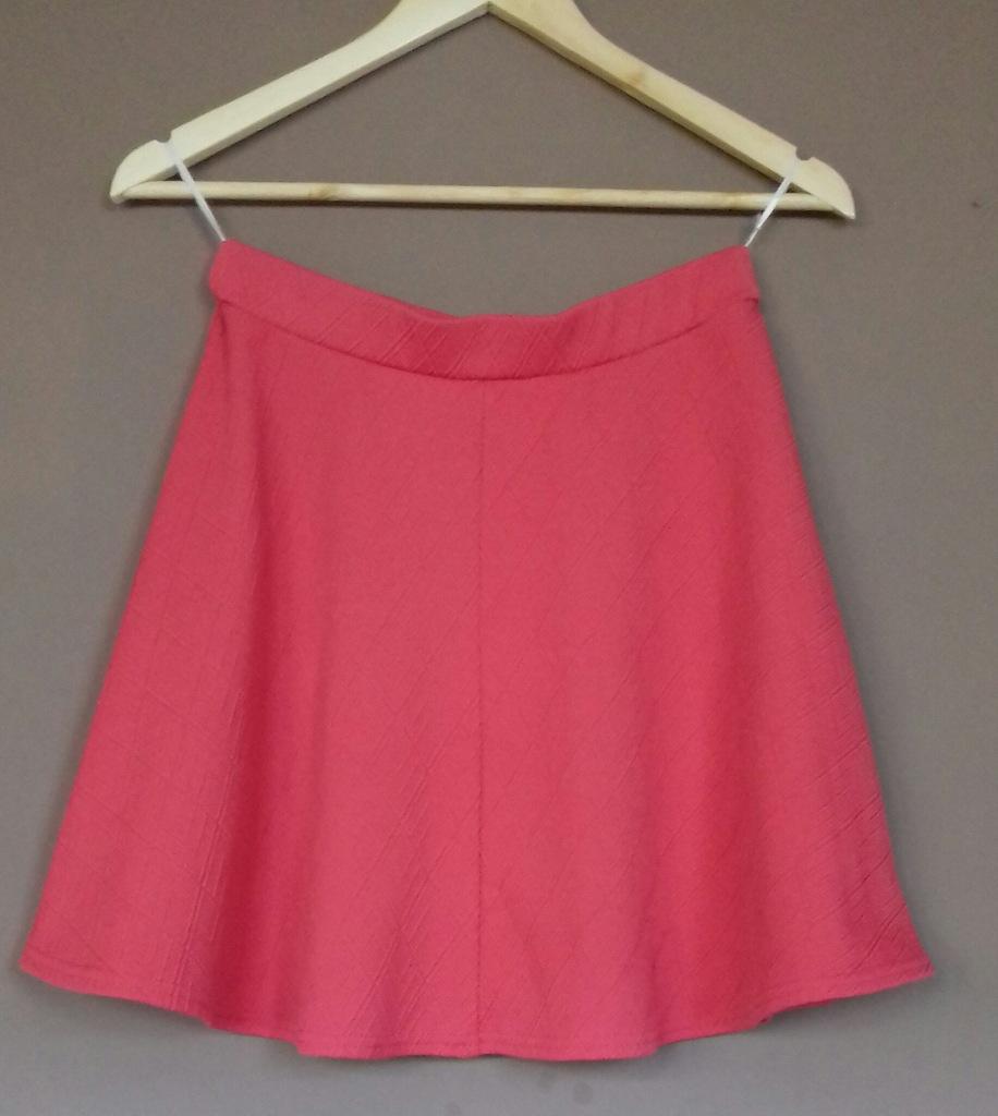 New Look malinowa spódnica trapez 38