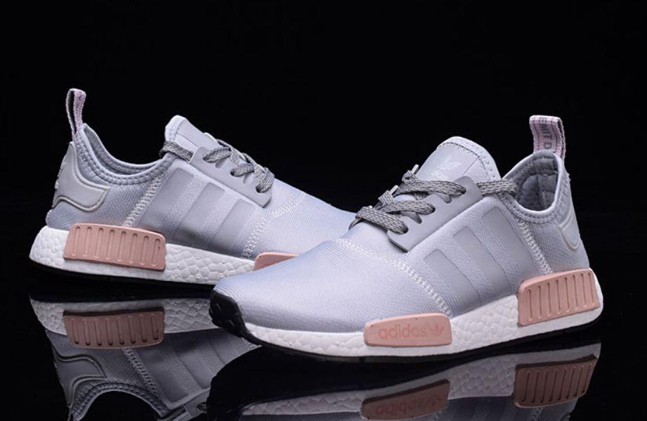 adidas buty damskie nmd r1 szaro rozowe