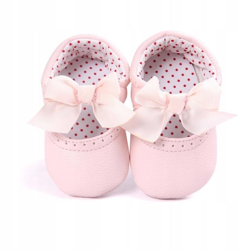 Różowe Pantofelki Buty Niechodki r.19 wkładka 12cm