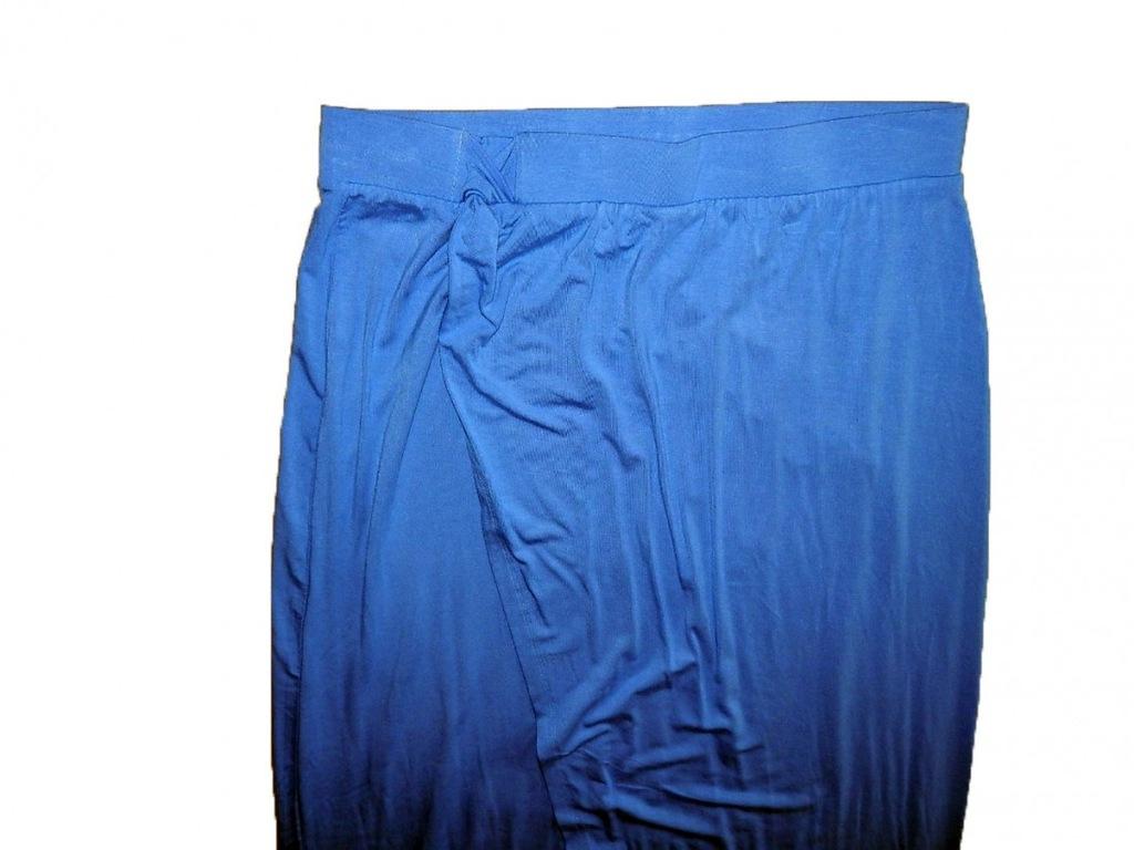 Reserved, niebieska dresowa spódnica maxi, roz. 42