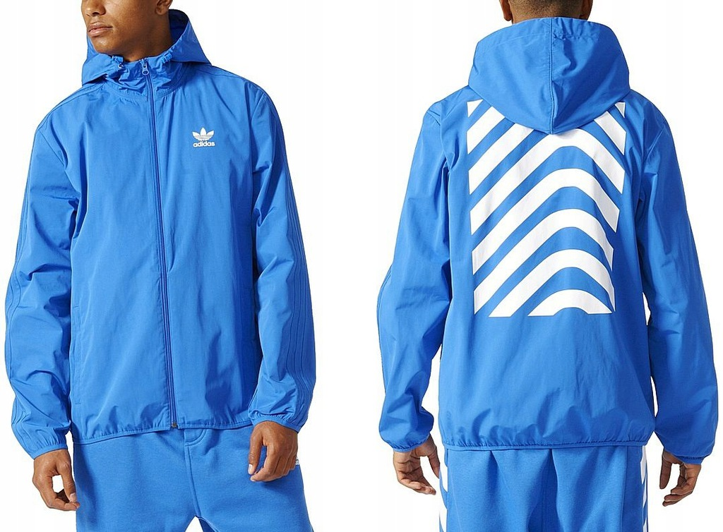 Adidas NYC HERRINGBONE (L) Kurtka Męska Wiatrówka