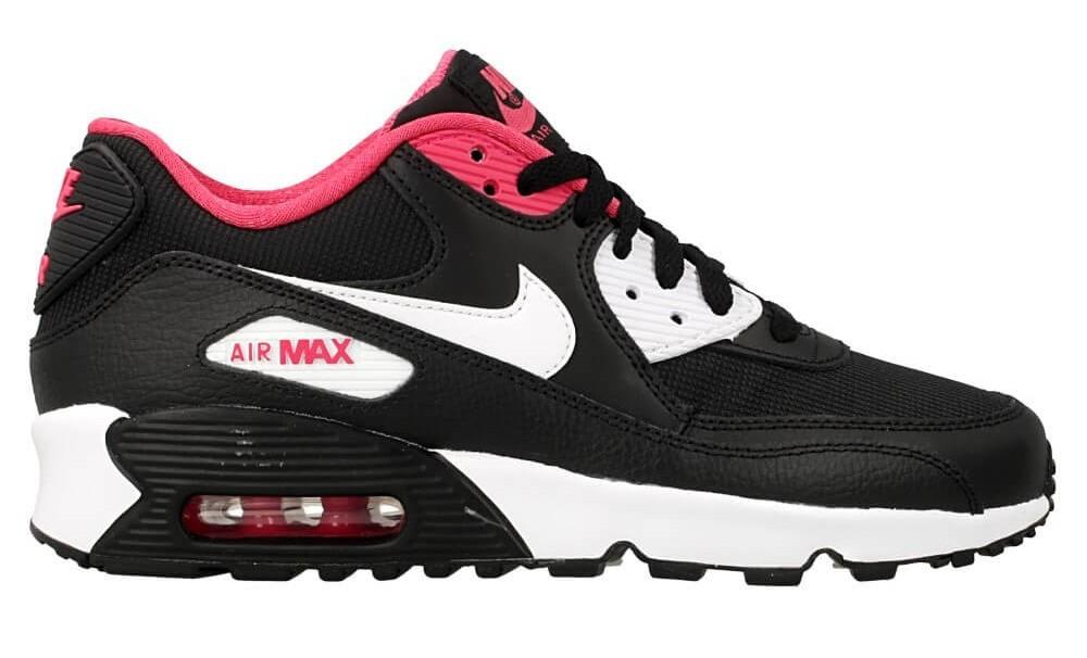 Klasyczna czerń zawsze w modzie NIKE AIR MAX 90 MESH GS