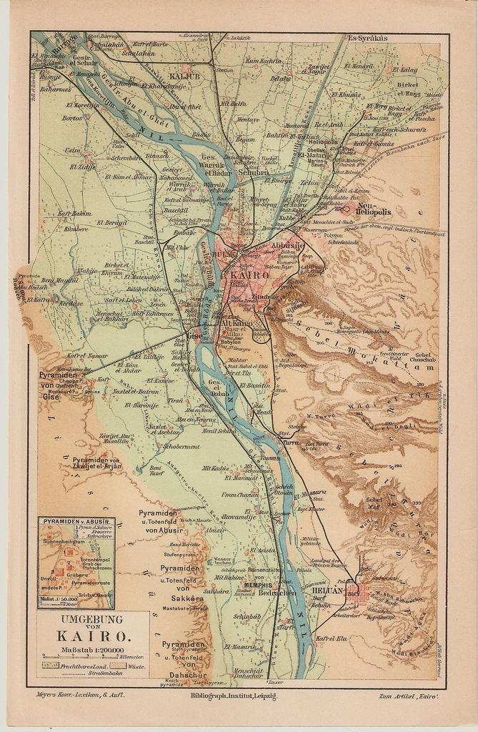 EGIPT KAIR I OKOLICE ROK 1902
