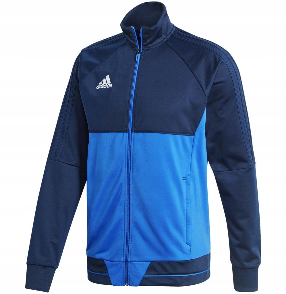 Adidas Bluza Męska Rozpinana Trzy Paski granatowa