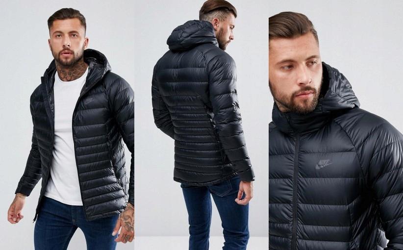 sportowa czarna pikowana kurtka nike