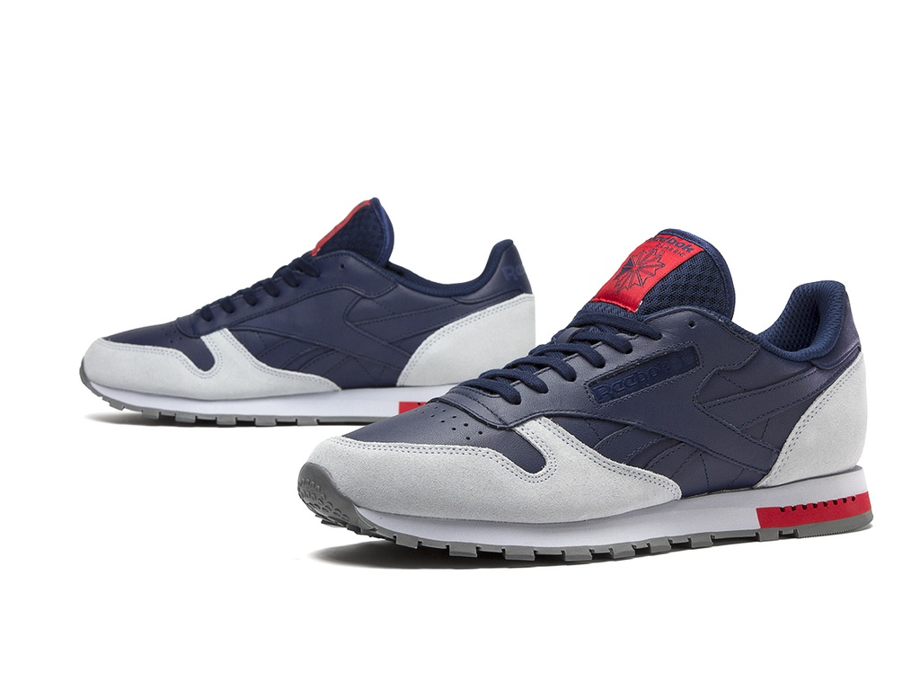 Buty męskie sneakersy Reebok Classic Leather Grey BD4415