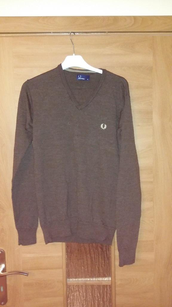 Fred Perry sweter męski L,  100% wełna