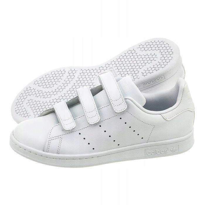 Buty adidas Stan Smith CF J S32142 Białe na Rzepy