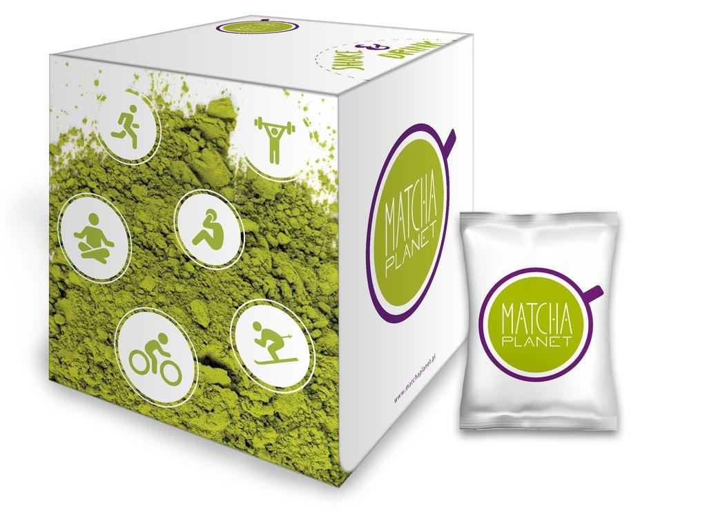 Matcha Planet, zielona mielona herbata, saszetki